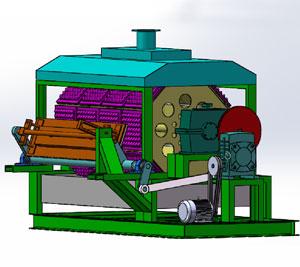 Rotary drum egg tray machine